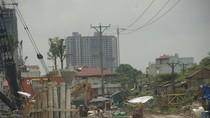 Khu đô thị mới Đại Thanh đang thi công ngổn ngang xi măng, sắt thép