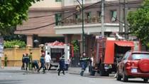 5 chiến sỹ cảnh sát PCCC bị thương trong vụ cháy cây xăng ở HN