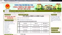 Nhiều số điện thoại bàn của lãnh đạo huyện Mê Linh có cho ...đủ số