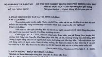 Gợi ý giải bài thi môn Ngữ văn tốt nghiệp THPT năm 2013
