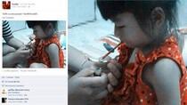 Phẫn nộ với hình ảnh cho bé gái hít ma túy ở Thái Lan