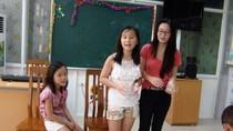 Ba công chúa nhỏ nhà GS Ngô Bảo Châu khuấy động Lớp học Hy vọng
