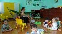Diện tích phòng nuôi dưỡng nhóm trẻ bảo đảm ít nhất 1,5m2/trẻ