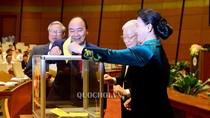 Quốc hội bỏ phiếu kín đánh giá tín nhiệm 48 chức danh