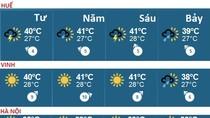 Nóng tối 1/5: Ngày mai, nhiều nơi nhiệt độ lên đến 41 độ C
