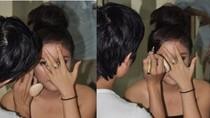 Vì sao Văn Mai Hương lấy tay  che mặt?