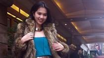 Hình ảnh 'nóng hổi' Ngọc Trinh quần sooc ở New York