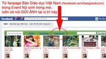 Cách GỬI ẢNH thi Nữ sinh trong mơ: Gửi từ Facebook rất dễ