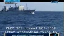 Philippines công bố video giằng co với tàu TQ ở Scarborough
