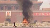 Ảnh: Xe jeep lao vào đám đông ở Thiên An Môn phát nổ làm 3 người chết