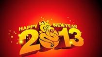 Các trang facebook cá nhân ngập tràn thiệp chúc năm mới 2013
