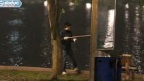 """Video:Giá rét đỉnh điểm, """"câu tặc"""" hoành hành tại Hồ Gươm"""