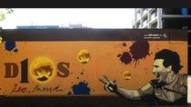 Vinh danh Quả bóng Vàng Messi trên bức tường huyền thoại