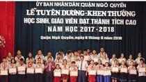 Quận Ngô Quyền khen thưởng học sinh, giáo viên đạt thành tích cao