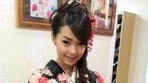 Minh Hằng tuyệt xinh diện áo kimono ngày 'Nắm chặt tay'