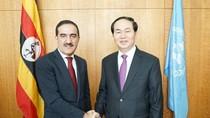 BT Trần Đại Quang hội kiến với Quyền Chủ tịch Đại hội đồng Liên hiệp quốc