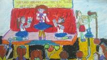 Tranh dự thi của Hà Chi, lớp 5A2, Tiểu học Đồng Nhân (MS:343)