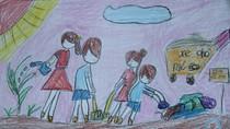 Tranh dự thi của Hà Lê,lớp 4H,Trường Tiểu học Dịch Vọng A(MS:356)