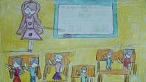 Tranh dự thi của Hà Lê,lớp 4H,Trường Tiểu học Dịch Vọng A(MS:359)