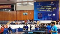 Giải Bóng bàn Cúp Hội Nhà báo Việt Nam lần thứ XII diễn ra ngày từ 13-16/9/2018
