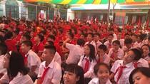 Hơn 800 em học sinh Trường trung học cơ sở MIS dự lễ khai giảng năm học mới