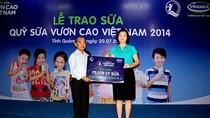 """Quỹ sữa """"Vươn Cao Việt Nam"""" đến với trẻ em Quảng Trị"""