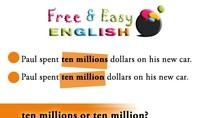 Bài 2: Viết thế nào cho đúng: 10 million hay là 10 millions?