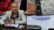 """Hillary Clinton """"vẽ linh tinh"""" khi dự họp ĐHĐ Liên Hợp Quốc"""