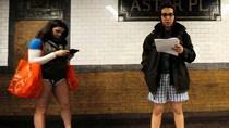 """Ảnh: Người New York hưởng ứng ngày """"Không mặc quần"""""""