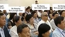 Ảnh: Thân nhân, người quen của Bạc Hy Lai tại phiên tòa 23/8