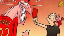 Alex Ferguson xúi trọng tài rút thẻ đỏ đuổi sao Liverpool