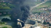 Video: Cháy lớn tại KS phía sau TT Hội nghị Quốc gia (Mễ Trì, Hà Nội)