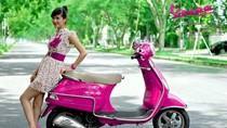 Kiều nữ Việt - Vy Võ quyến rũ cùng Vespa hồng