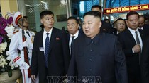 Đoàn xe chở Chủ tịch Triều Tiên Kim Jong-un đang hướng về Hà Nội