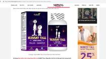 Cảnh báo về quảng cáo sản phẩm Nubest tall sai quy định