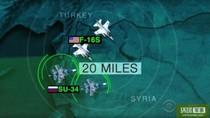 """Máy bay chiến đấu Mỹ-Nga """"đụng độ"""" trên bầu trời Syria"""