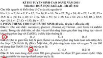 Đáp án đề thi tuyển sinh ĐH, CĐ năm 2011 (Môn Hóa)