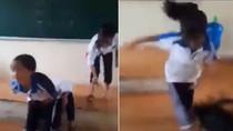 Nữ sinh Hà Nội bị bạn đánh dã man ngay trên bục giảng