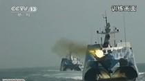 """Video: Hạm đội Nam Hải tập trận bắn rơi máy bay """"địch"""" ngoài """"biển lạ"""""""