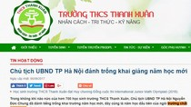 """Trường Trung học cơ sở Thanh Xuân có lạm dụng mác """"chất lượng cao"""" để thu tiền?"""