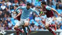"""Tiêu điểm Man City 2-1 West Ham: Bộ đôi """"thần thánh"""" Aguero - Tevez"""