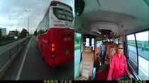 Khiếp hãi cảnh xe Kumho – Việt Thanh chèn xe khách trên đường 18