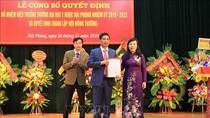 Bổ nhiệm ông Nguyễn Văn Khải làm hiệu trưởng Trường Đại học Y Dược Hải Phòng