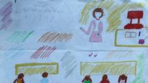 Tranh dự thi của Diệu Anh, lớp 5I, Tiểu học Dịch Vọng A (MS: 125)