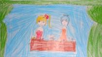 Tranh dự thi của Nguyệt Anh, lớp 4B, Tiểu học Dịch Vọng A(MS: 147)