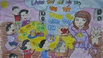 Tranh dự thi của Phương Mai, lớp 5A1, Tiểu học Ngôi Sao (MS: 222)