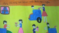 Tranh dự thi của Hà My, lớp 5A3, Tiểu học Đồng Nhân (MS:344)
