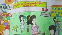 Tranh dự thi của Thu Quyên, lớp 5A3, Tiểu học Đồng Nhân (MS:345)