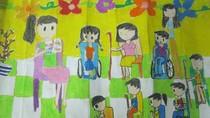 Tranh dự thi của Thu Vân, lớp 5A2, Tiểu học Đồng Nhân (MS:346)