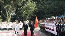 Tổng Bí thư Nguyễn Phú Trọng đón trọng thể Tổng Bí thư, Chủ tịch nước Lào